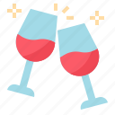 alcohol, celebration, cheers, party icon