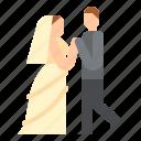 bride, dancing, groom, wedding icon