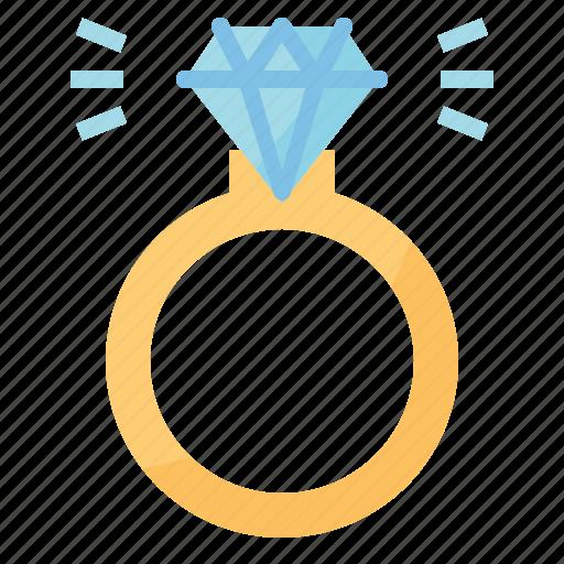 diamond, engagement, jewelry, rings icon
