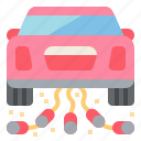 car, just, married, wedding icon
