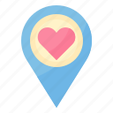 location, love, married, navigation, wedding icon