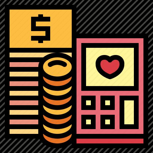 budget calculator money tool wedding icon