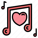 love, song, quaver, music, hearts, musical icon
