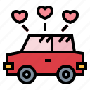 car, vehicle, transport, wedding icon