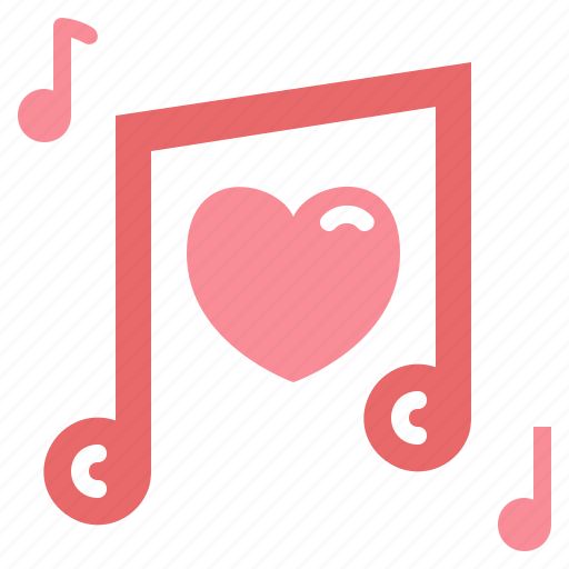 hearts, love, music, musical, quaver, song icon