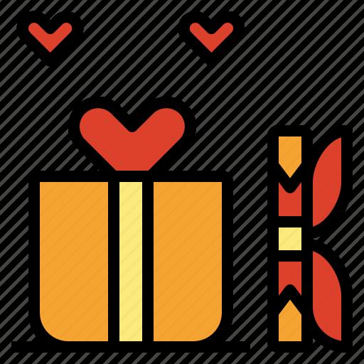 box, gift, love, present, surprise, valentine icon