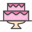 cake, colored, holidays, wedding icon