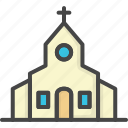 building, church, colored, holidays, wedding icon