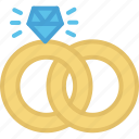 holidays, ring, rings, wedding icon