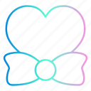 bow, heart, love, romance, tie, wedding icon