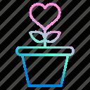 green, grow, love, loving, plant, romance, wedding icon