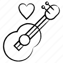 event, guitar, love, music, romantic icon