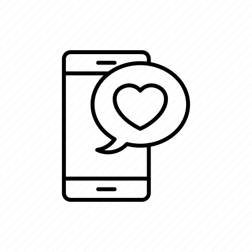 App Chat Emoji Love Mobile Smartphone Wedding Icon