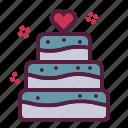 cake, dating, love, love cake, valentine, wedding icon
