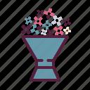 bouquet, flowers, wedding icon