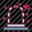 love, marriage, wedding, wedding arch icon