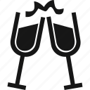 celebration, champagne, cheers, drinks, glasses icon