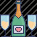 alcohol, beverage, bottle, champagne, drink, glass
