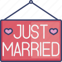 celebrate, celebration, just, marriage, married, occasion, sign icon