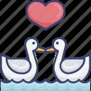 animal, bird, birds, love, romance, romantic, wildlife icon
