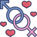 heart, intimacy, romance, romantic, sex, union, valentine icon