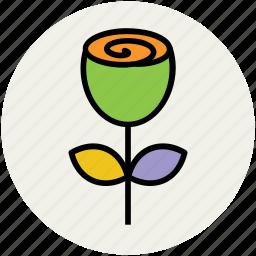 bloom, floral, flower, love rose, love sign, rose, rosebud icon
