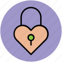 heart design, heart lock, like, love, love sign, love symbol icon
