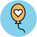 balloons, decorations, decorative balloons, heart balloon, party decorations icon