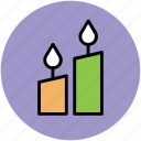 burning candle, candlelight, candles, light, wedding candles icon