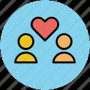 couple, heart, heart feeling, in love, love, romance icon
