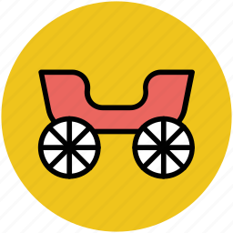 carriage, vehicle, wedding carriage, wedding crew, wedding lorry icon