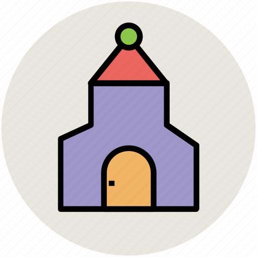 chapel, house of worship, oratory building, temple, wedding building icon