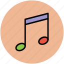 eighth note, music node, music note, music sign, musical note, note icon