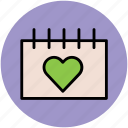 calendar, date, day, event, valentine day, wedding day icon