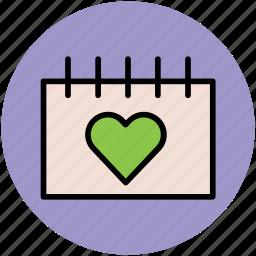 calendar, date, day, event, valentine day, wedding day icon