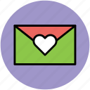 envelope, envelope with heart, love message, valentine greeting, valentine letter icon