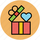 celebrations, gift, gift box, love gift, open box, party, present icon