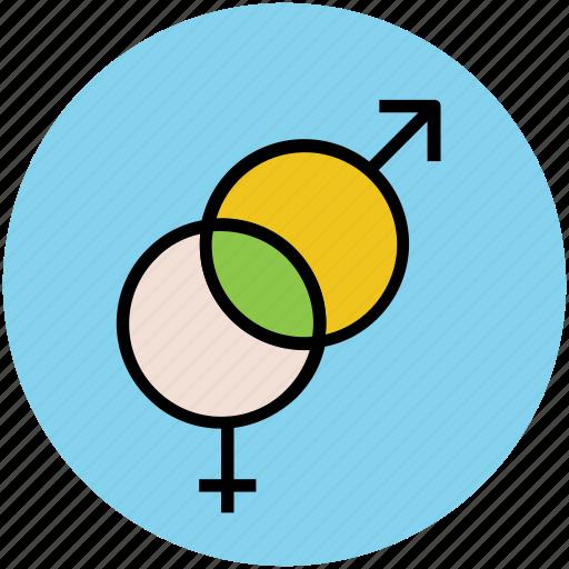 couple, female sign, gender symbols, male sign, sex symbols icon