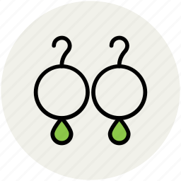 eardrops, earrings, fashion, jewelry, ornaments icon