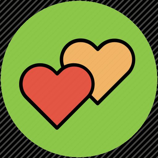 favourite, hearts, like, love, romance, valentine icon