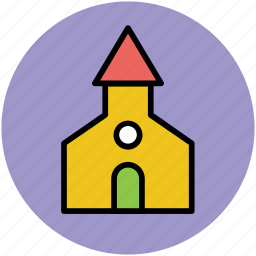 chapel, church, house of worship, oratory building, temple icon