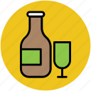 drink, drink and bottle, glass and bottle, vodka, wine icon