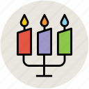 burning candle, candleholder, candlelight, candles, wedding candles icon