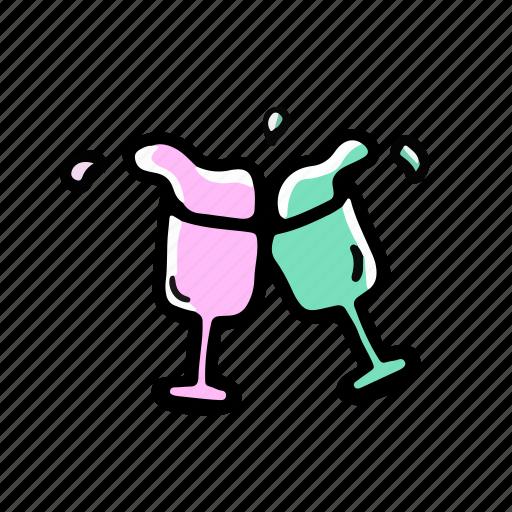 Drink, elements, glass, wedding icon - Download on Iconfinder