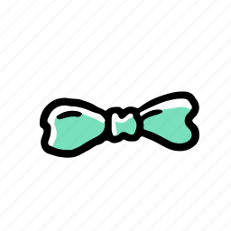 bow tie, elements, hand drawn, wedding icon