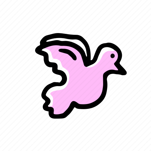 dove, elements, hand drawn, wedding icon
