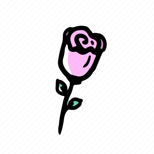 elements, flower, hand drawn, rose, wedding icon