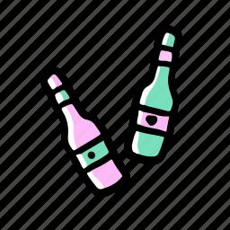 drink, elements, hand drawn, wedding icon