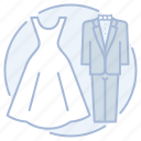 bride, groom, marriage, wedding icon