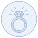 diamond, engagement, marriage, ring, wedding icon